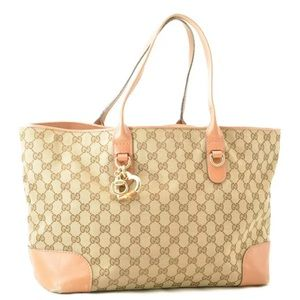 Authentic GUCCI Bamboo Charm Tote Bag